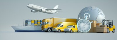 Obraz International express transportation