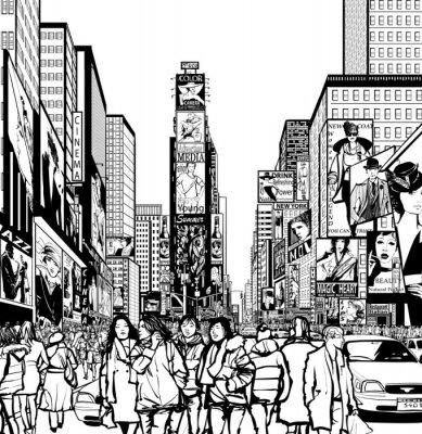 Obraz Interpretacja Times Square w Nowym Jorku
