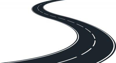 Obraz izolowane kręta droga