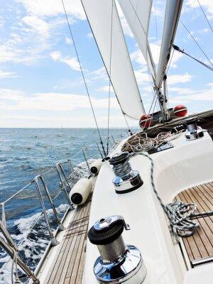Obraz Jacht jest sklejaniu w Adriatyku,