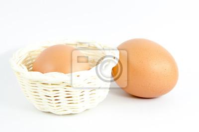 Obraz jajka w koszu