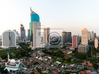 Jakarta downtown district in Indonesia capital city
