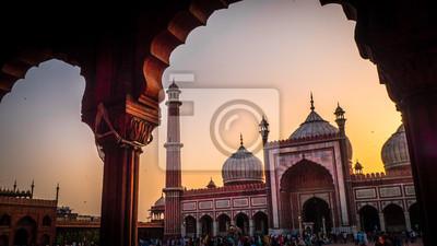 Obraz Jama Masjid Meczet w Old Delhi w Indiach
