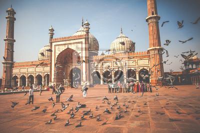 Obraz Jama Masjid Meczet w Starym Delhi, Indie.