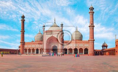 Obraz Jama Masjid, Old town of Delhi, India