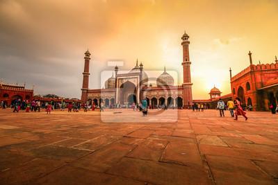 Obraz Jama Masjid, Stare Delhi, Indie