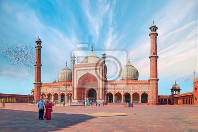 Obraz Jama Masjid, Stare miasto Delhi, Indie