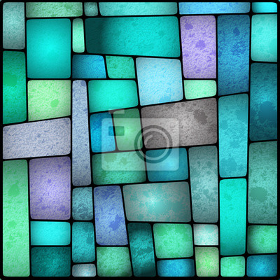 Obraz Jasne i kolorowe barwione okno SZKŁA