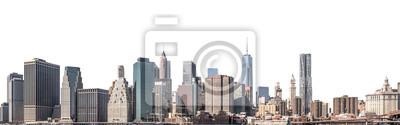 Obraz Jeden world trade center i drapacz chmur, wieżowiec w lower manhattan, Miasto Nowy Jork, odizolowywał białego tło z ścinek ścieżką