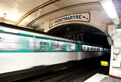 Obraz Jeden z najstarszych stacji metra w Europie - Paryż podziemia