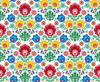 Obraz Jednolite kwiatów polski wzór - pochodzenie etniczne