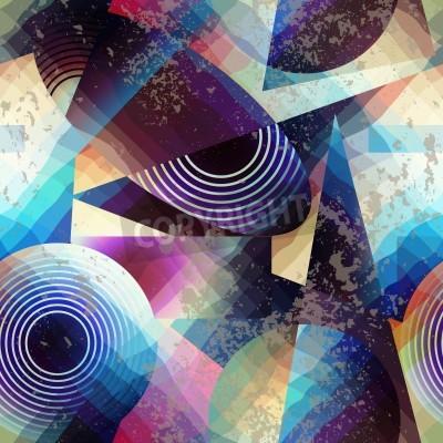 Obraz Jednolite tło wzór. Streszczenie geometryczny wzór w stylu kubizmu.