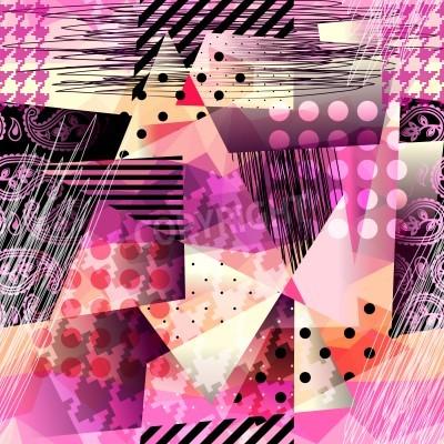 Obraz Jednolite tło wzór. wzór grunge w stylu kubizmu.