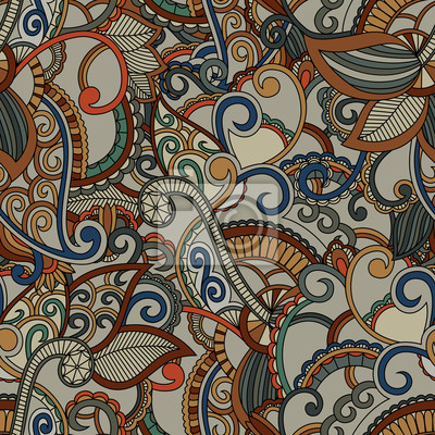 Jednolite tło wzór. Wzór Paisley