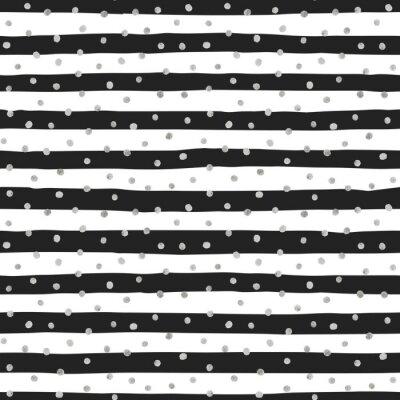 Obraz Jednolite wzór losowych srebrnych kropek.