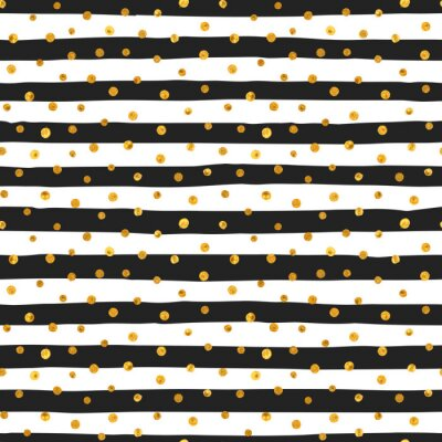 Obraz Jednolite wzór losowych złotymi kropkami.