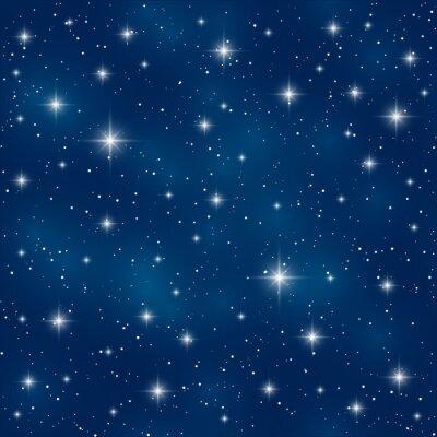 Obraz Jednolite wzór z gwiazd połyskliwa