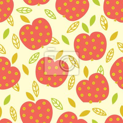 Jednolite wzór z jabłkami