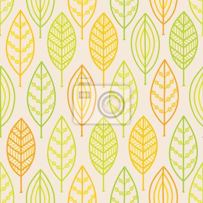 Jednolite wzór z liści