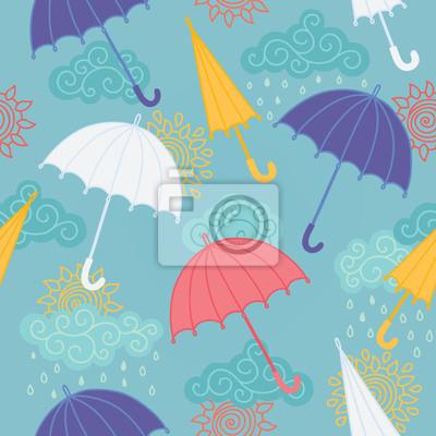 Jednolite wzór z parasolami
