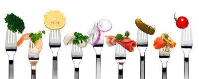 Obraz Jedzenie na widelce