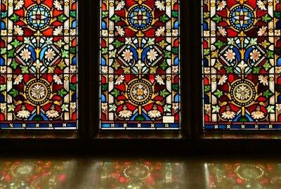 Obraz Jersey, U.K. August 1st 2019, 19th stained glass window of St Martin's Church.