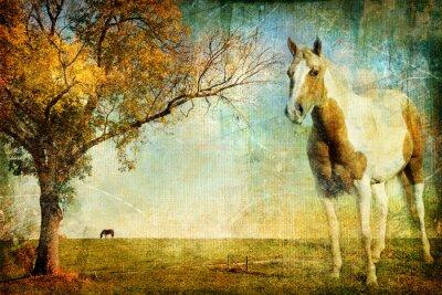 Obraz jesień krajobraz - kompozycji w stylu malarstwa