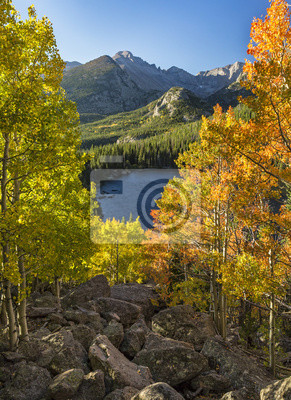 Jesień Vista z Bear Lake Rock Pile