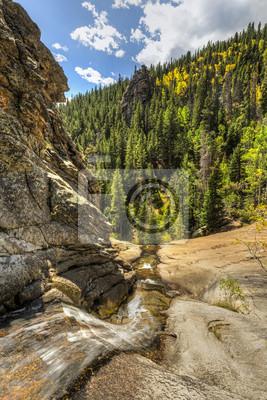 Jesień w Bridal Veil Falls na Cow Creek