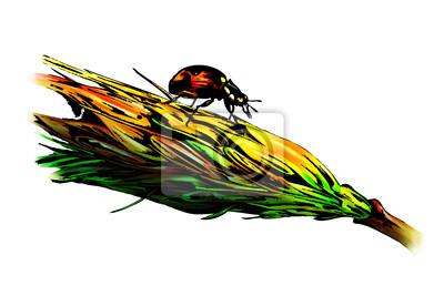 Obraz Jesienią ilustracji rolnictwo