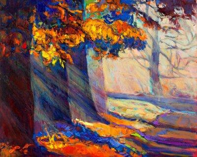 Obraz Jesienią lasu