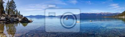 Obraz Jeziorna Tahoe góry krajobrazu panoramiczna scena w Kalifornia