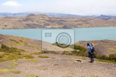 Jezioro w Parku Narodowym Nordenskjöld Torres del Paine.
