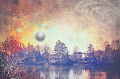 Obraz Jezioro w sunrise
