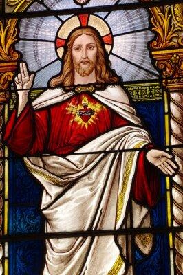 Obraz Jezus kościelnych witraży