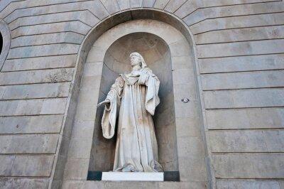 Joan Fivaller statue in Barcelona, Spain