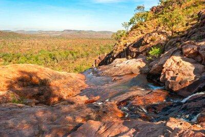 Obraz Kakadu National Park (Terytorium Północne, Australia) krajobraz niedaleko Gunlom poszukiwania