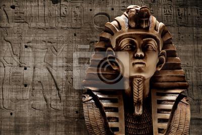 Obraz Kamień faraon Tutanchamon maska