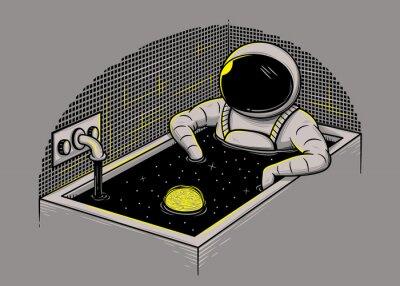 Obraz kąpiel Kosmos