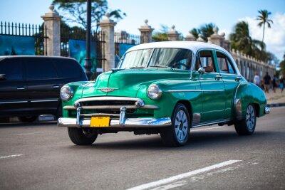 Obraz Karaiby Kuba Havanna Oldtimer auf der Strasse