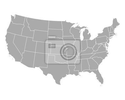 Obraz Karte der USA
