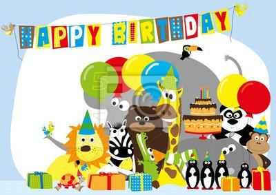 Nowoczesna architektura Obraz Kartka urodzinowa dla 5 lat dziecka z szczęśliwych FC14