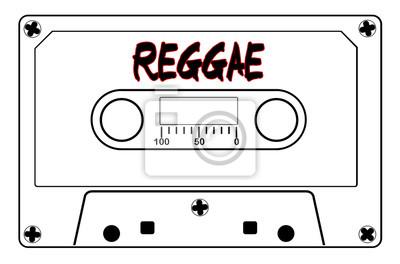 Obraz Kaseta z taśmą muzyczną Reggae
