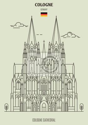 Katedra w Kolonii w Kolonii, Niemcy. Ikona punktu orientacyjnego