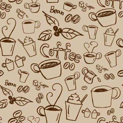Obraz Kawa bez szwu deseń