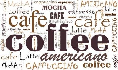 Obraz Kawa tle