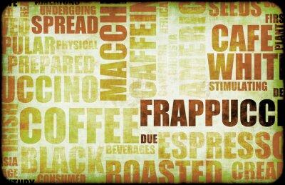 Obraz Kawa tle brązowy
