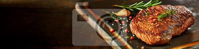Obraz Kawałek z rump steak na pokładzie rozbioru