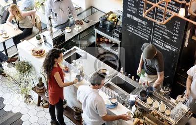 Obraz Kawiarnia Bar Counter Cafe Restauracja Relaks Concept