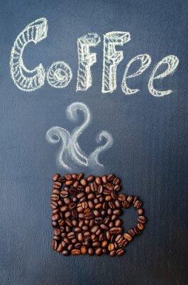 Obraz kawy z ziaren kawy